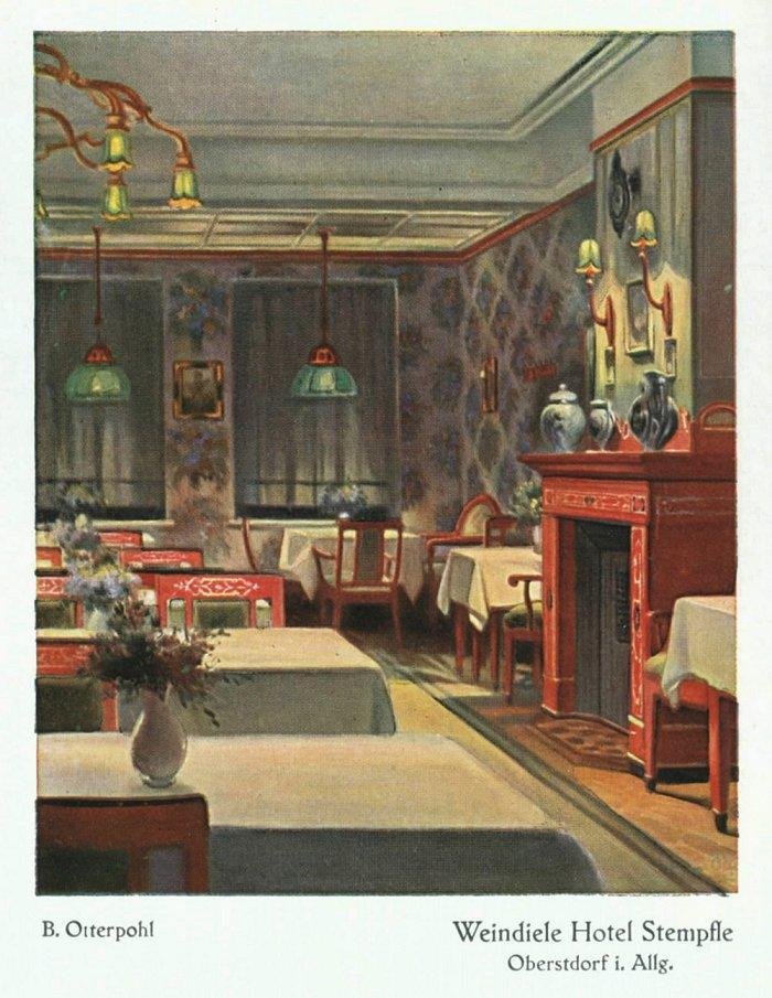 Weindiele Hotel Stempfle (Postkarte)