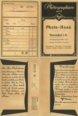 Abholtasche für Photos von Photo Haas
