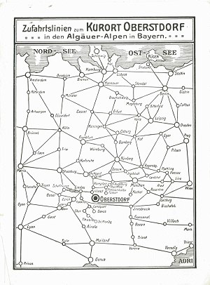 Ortsprospekt 1914 (Anfahrt)