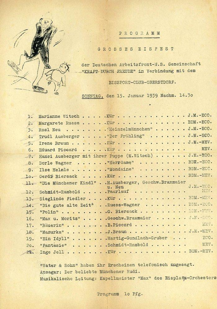 Programm Grosses Eisfest 1939 (ECO)