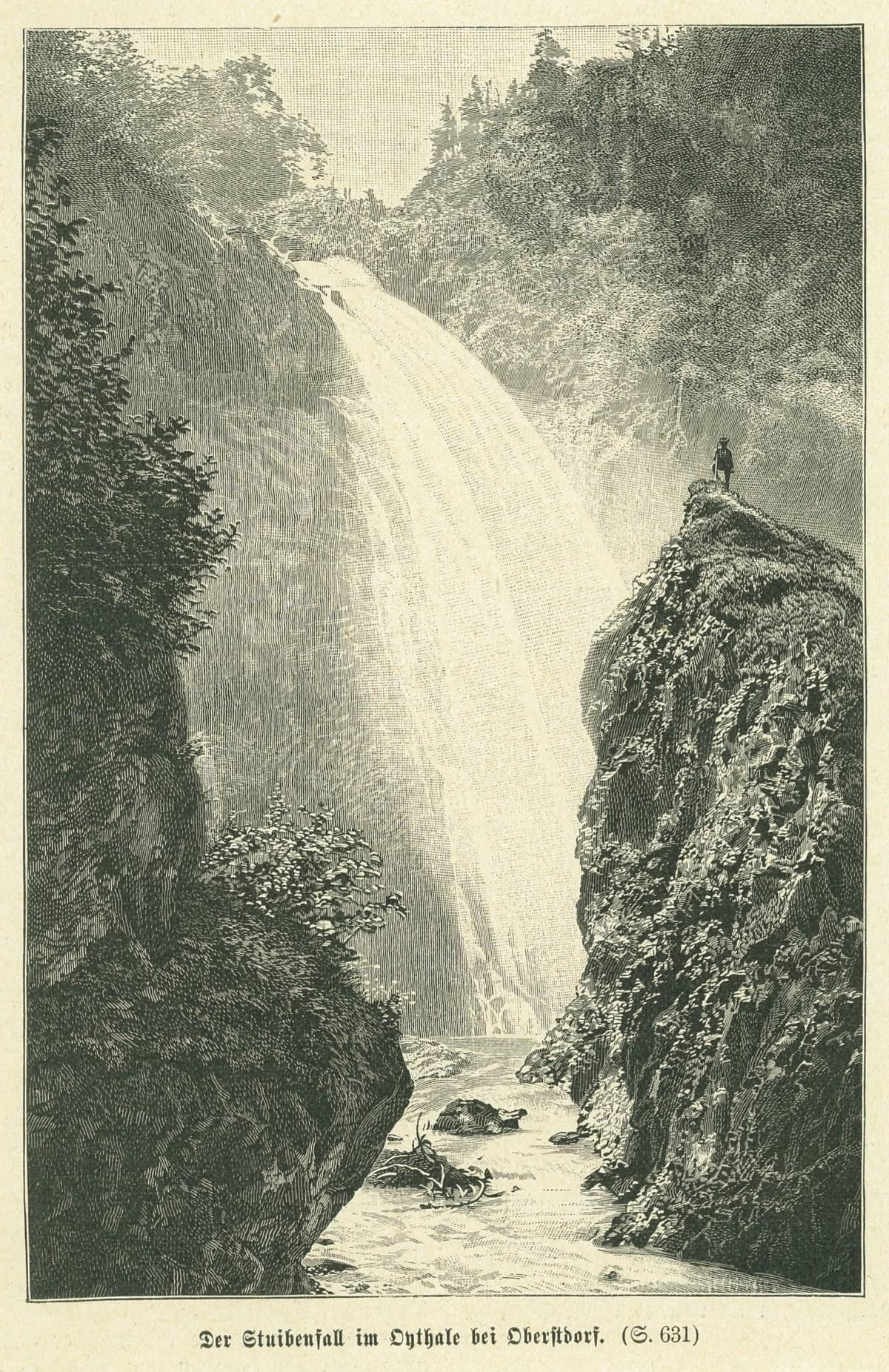 Der Stuibenfall im Oythale bei Oberstdorf