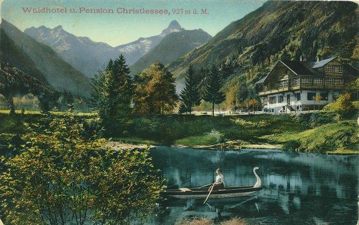 Im Schwanenboot am Christlessee