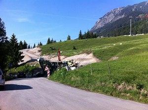 Neue Baustellen-Zufahrt kleine Skisprungschanze