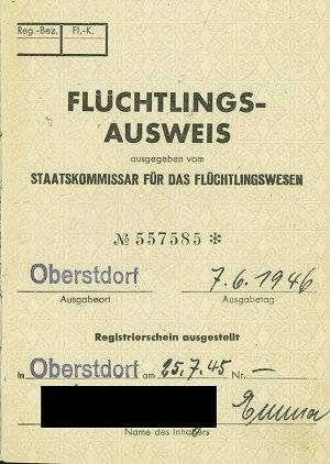 Flüchtlingsausweis: Ausstellungsvermerke