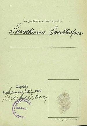 Flüchtlingsausweis: Fingerabdruck