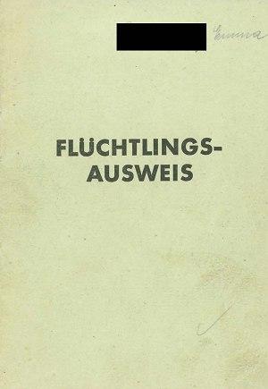 Flüchtlingsausweis Umschlag