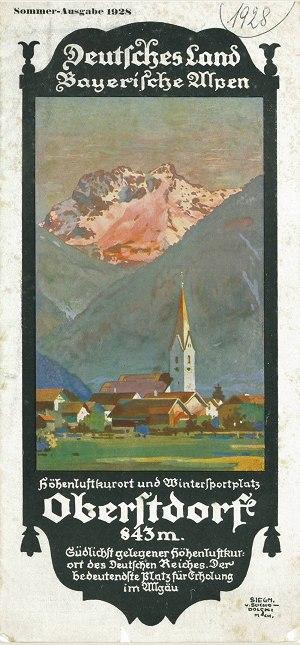 Orsprospekt 1928 Umschlag