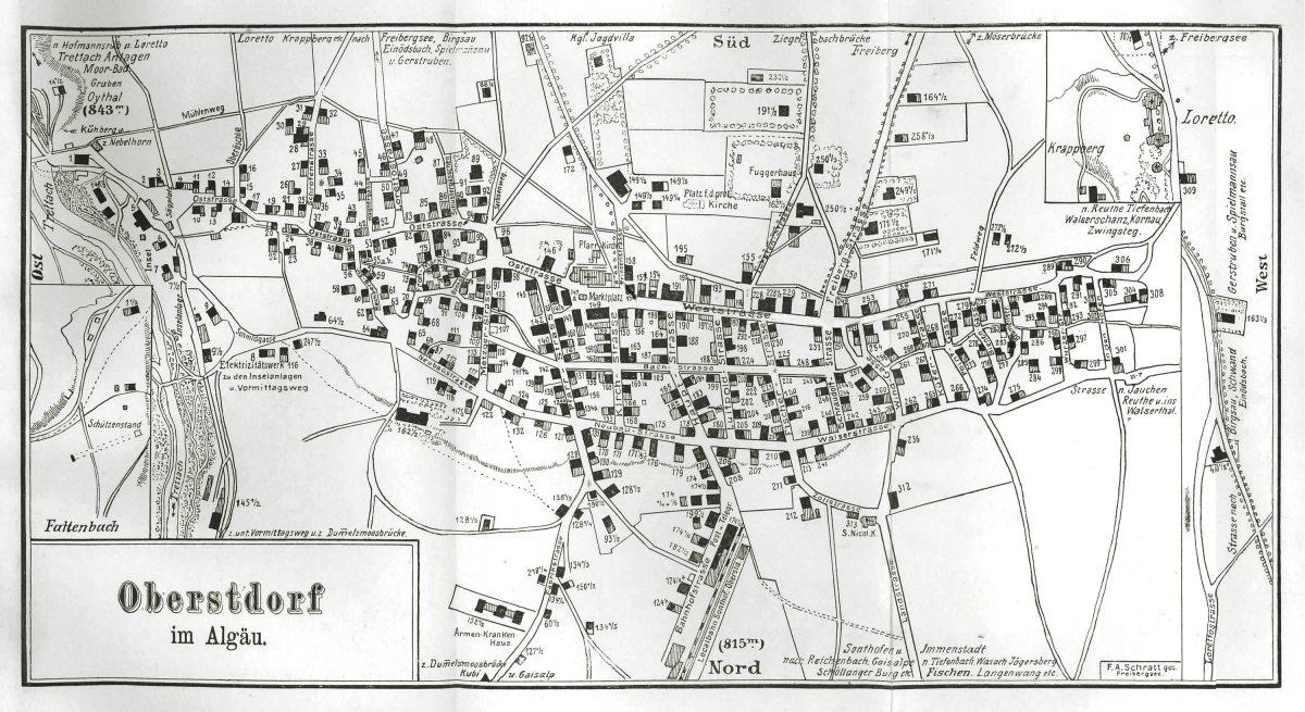 Ortsprospekt 1897, Ortsplan