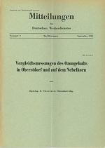 Heft: Vergleichsmessungen der Ozonwerte