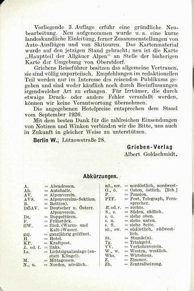 Griebens Reiseführer 1927 Seite 8