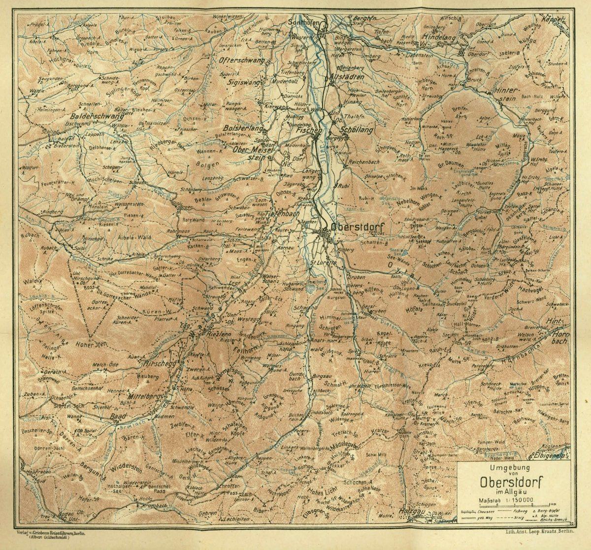 Griebens Reiseführer 1922 Karte