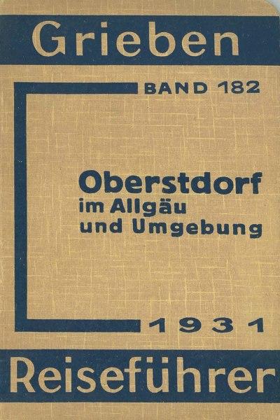 Griebens Reiseführer 1931 Umschlag