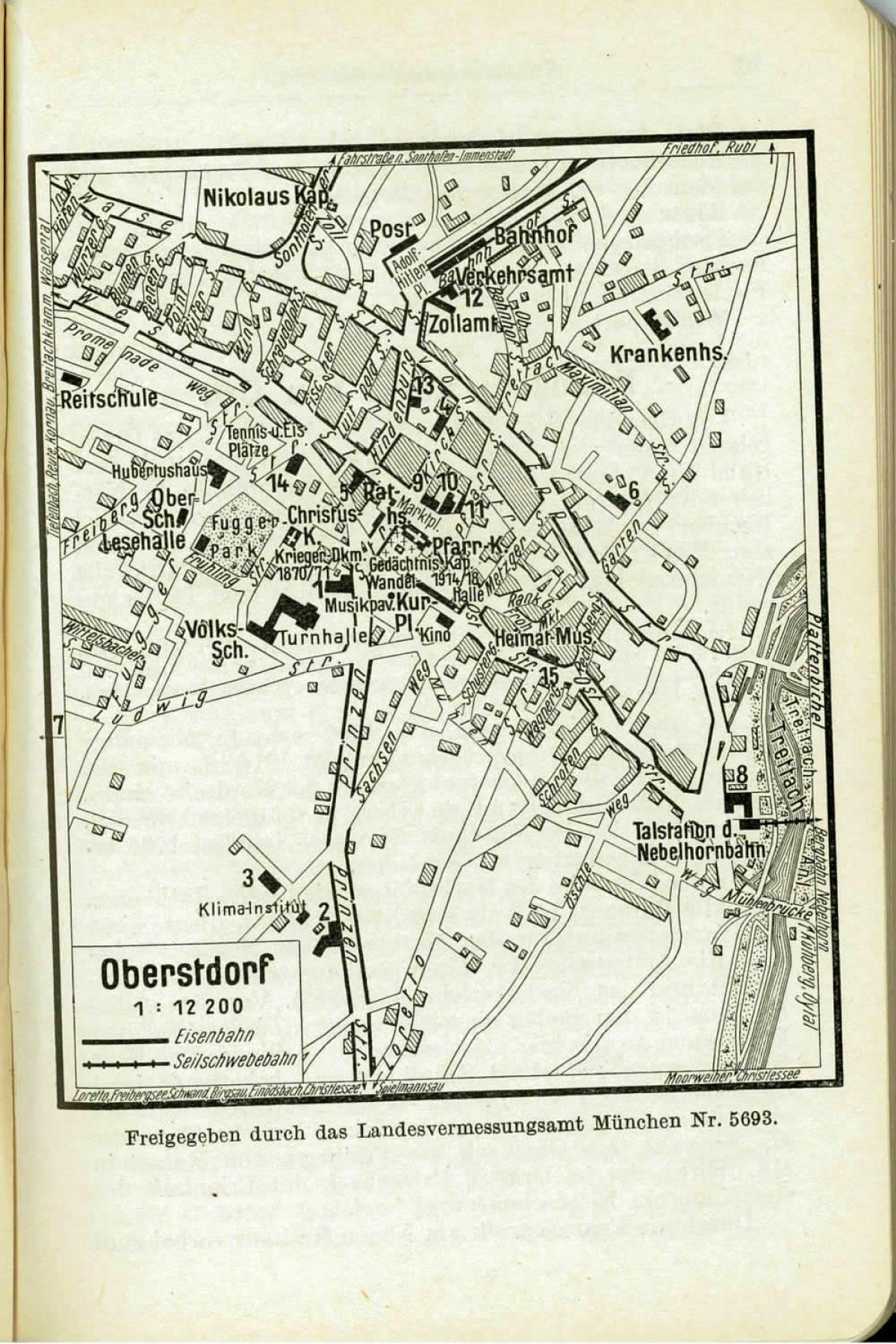 Griebens Reiseführer 1934 Ortsplan