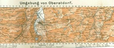 Griebens Reiseführer 1931 Faltkarte
