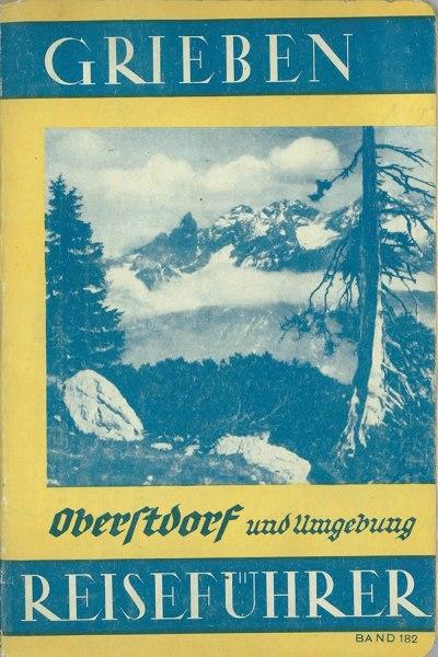 Griebens Reiseführer 1938 Umschlag