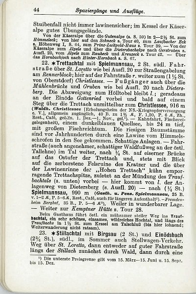 Griebens Reiseführer 1938 Seite 44
