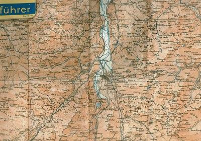 Griebens Reiseführer 1934 Faltkarte