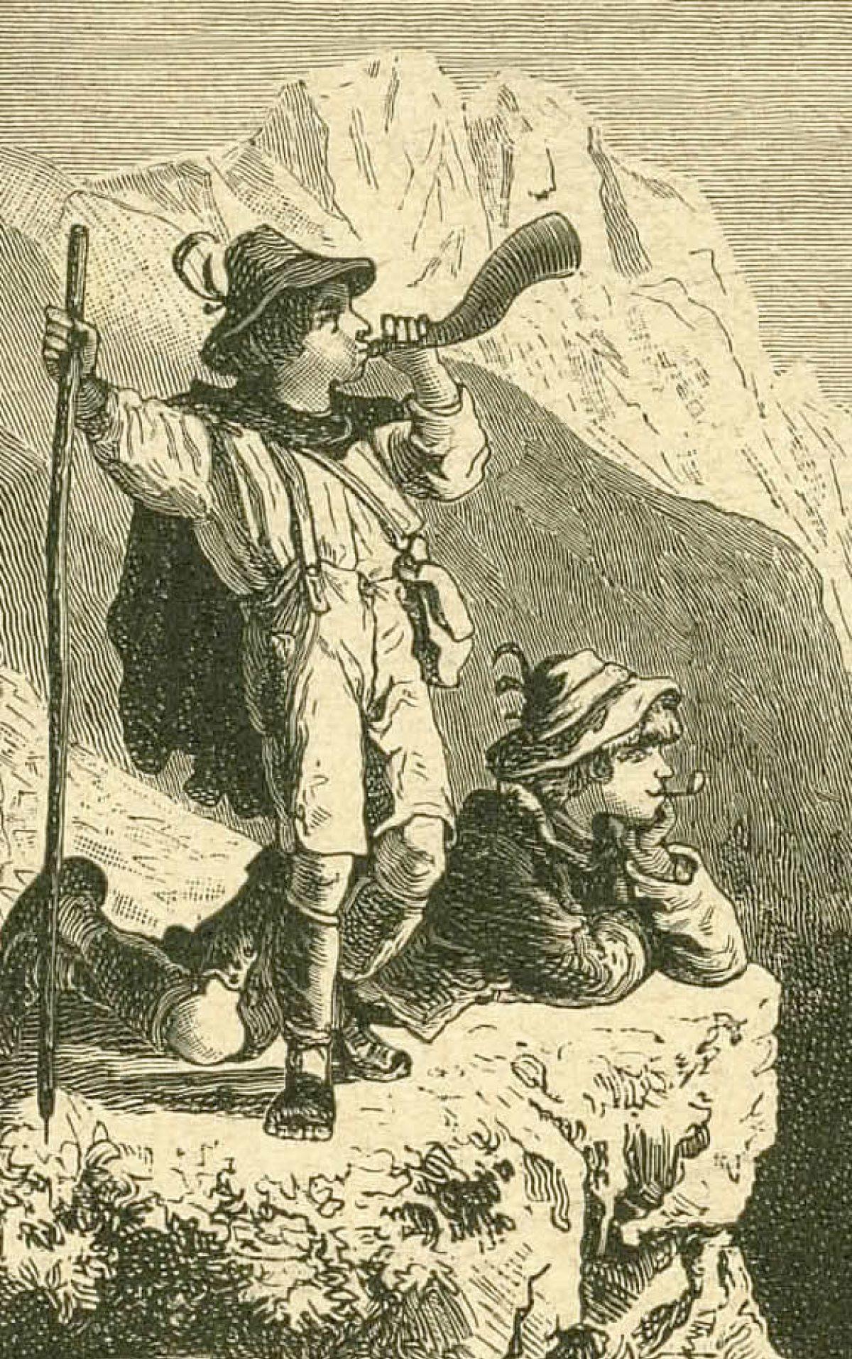 Auf der Hochalm im Sonneschein (Skizze 2)