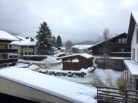 Blick vom Balkon - Winter