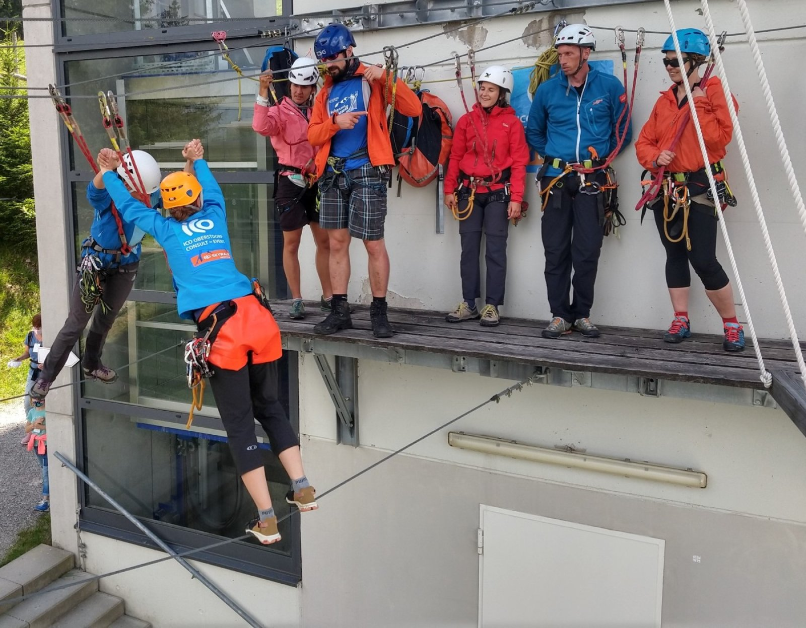 Sicherheits-Training im Skywalk - ICO ImpulseConsult Oberstdorf