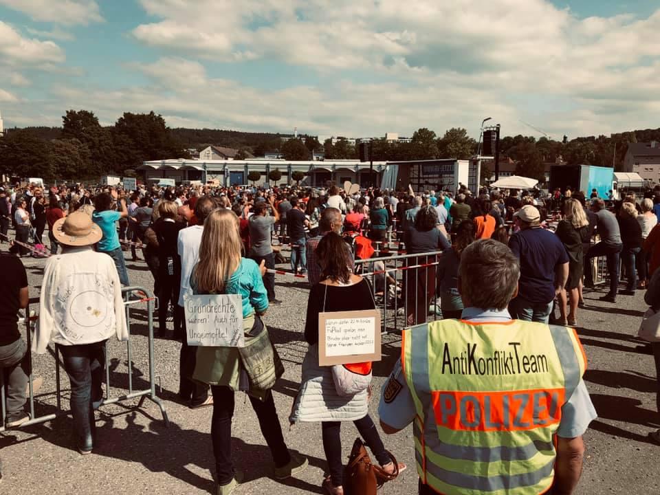 Corona-Demo Ravensburg - ICO ImpulseConsult
