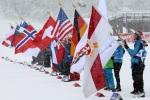 Fahnenkinder des Skiclub Oberstdorf