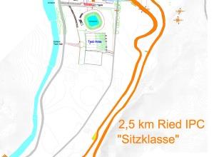 Streckenplan 2,5 km sit ski