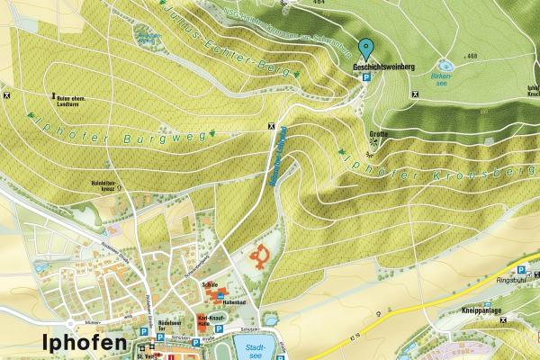 Kartenausschnitt Geschichtsweinberg