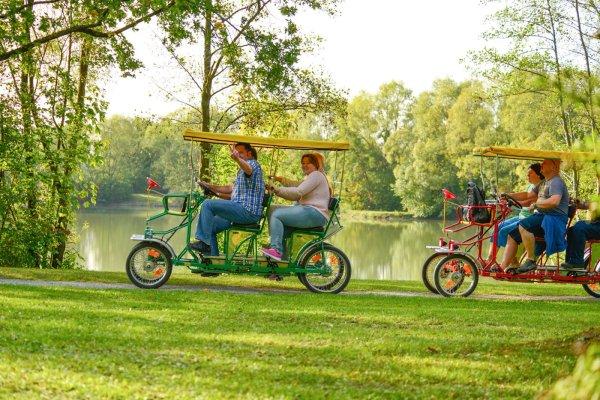 Familienräder - Verleih an der Minigolfanlage