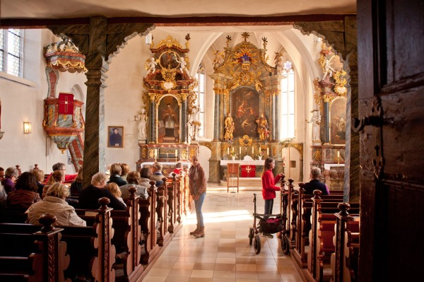 Der Innenraum der Spitalkirche