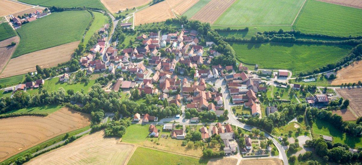 Luftaufnahme von Mönchsondheim