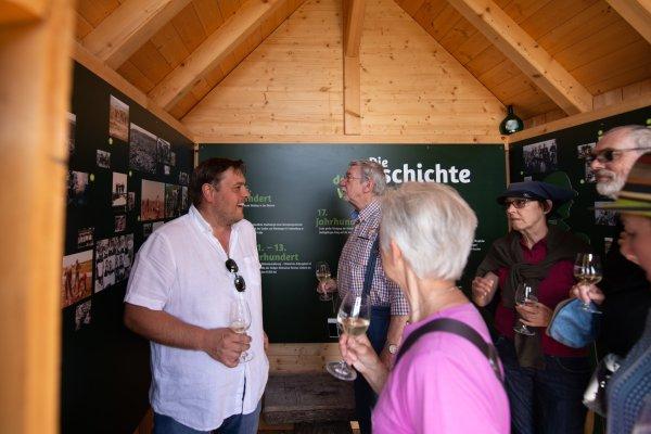 Im 'Wengertshäusle' gibt es jede Menge Info zur Geschichte des Weinbaus