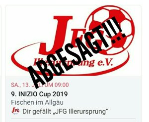 InizioCup Absage 2019