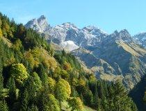 Schneegipfel und Bergwald Allgäu