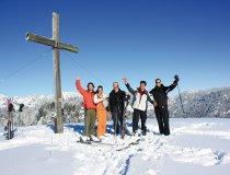Skifahren Gipfelkreuz