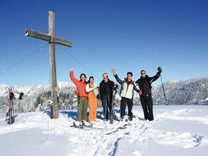 Skifahren Gipfelkreuz g