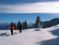 Schneeschuhtour im Allgäuer Tiefschnee