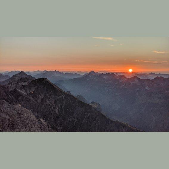 Trettachspitze Sonnenuntergang