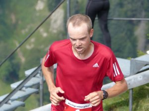Letzten Meter beim Hochgrat Berglauf