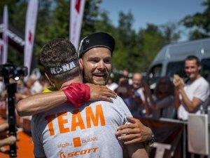 Ziel beim Allgäuer Ultramarathon