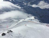 Skiabfahrt am Nebelhorn