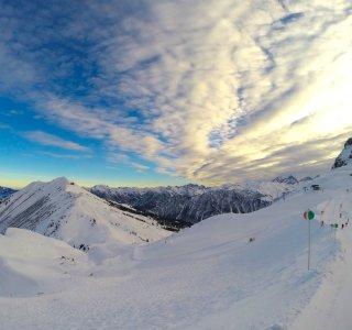 Zwischen Fellhorn und Kanzelwand im Zweiländer-Skigebiet