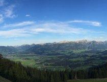 Panorama vom Ofterschwanger Horn auf Sonthofen und das obere Allgäu
