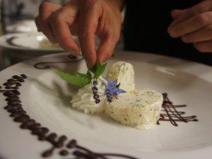 Dessert beim Kräuterabend