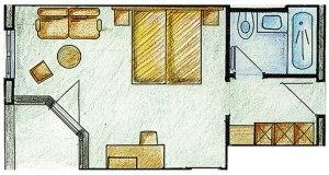Grundriss Doppelzimmer Goldmelisse