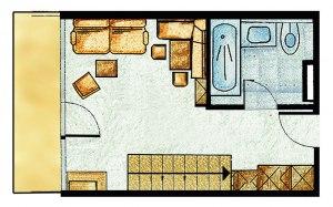 Panoramazimmer Sonnenblume Wohnbereich