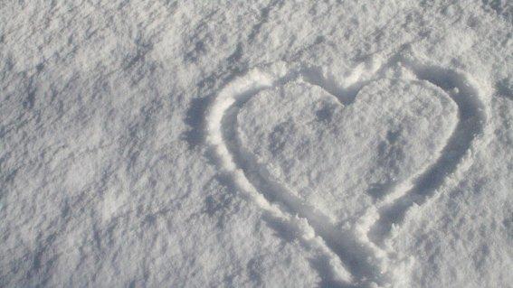 Schnee Herz