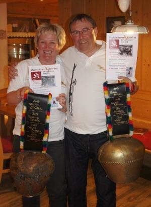 Die stolzen Sieger Monika und Kurt - Gratulation!!