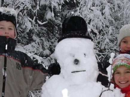 Wer baut den schönsten Schneemann?
