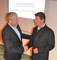 Klaus King mit BHG-Vorstand Stefan Helm